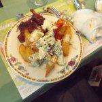 Second course:  Lemon chicken, torpedo shrimp,  broccoli salad