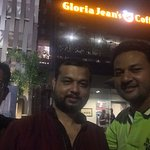 With friends at Gloria Jeans Coffees, Dhaka, Bangladesh.