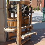 Cider press on Front Street