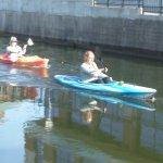Kayaking just below hotel