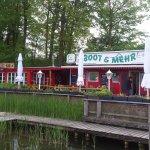 Blick auf das kleine Restaurant