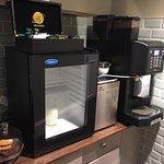 Complimentary coffee/tea/hot choc. High standard,