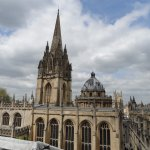 View from Balcony of Main Oxford University street