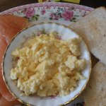 smoked salmon & scrambled eggs!!!