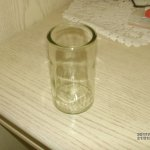 Das soll ein Trinkglas sein? Blumenvase wäre besser.
