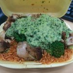 Colombian chicken with the green sauce