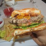 Impossible (vegan Burger, but the Beyond Burger is better, find that somewhere!