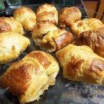 Freshly backed croissants and apple danish everyday