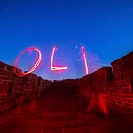 Fun light painting on the wall