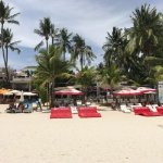 From the crystal clear waters of the Boracay Beach, you can see the White House Resort front.