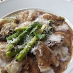 Veal Ravioli with lemon caper sauce