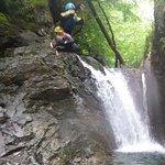 Ghyll scrabble jump