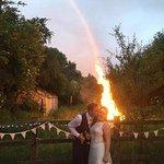 Wedding night bonfire