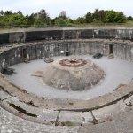 Den største bunker med kanonstilling. Man kan komme ind i denne bunker ved adgang via museet.