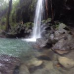 Downpour in the emerald pool