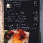 Brief menu indoors