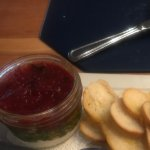 Goat cheese & tomato jam jar