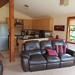 Our beautiful luxury log cabin complete with its own private hot tub/spa.  Excellent from start