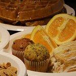 Inclusive Breakfast; fresh fruit, mini muffins & danish.