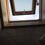photo taken from toilet seat !