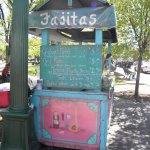 Fajita vendor at the Santa Fe Plaza....