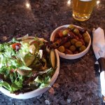 House Salad and Roasted Olives