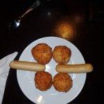 Breakfast Sausages and Potato arrangement