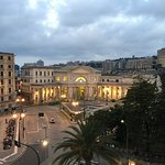 The hotel is right across from the gorgeous Genoa train station
