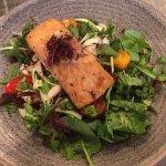 Superfood salad with salmon - yum!