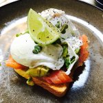 Avocado and eggs on toast
