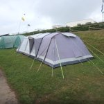 Our tents on electric pitch :-)