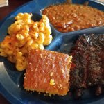 Bar-B-Que Ribs, Mac & Cheese, Bar-B-Que Beans, Honey Hush Cornbread