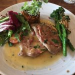 Veal Saltimbocca with additional Broccolini