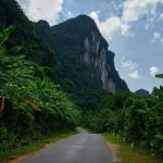 The ring road around Phong Nha-Kẻ Bàng National Reserve