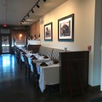 Interior dining room, both booths and tables available