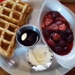 Waffle with Fruit Compte