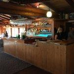 Beautiful bar area overlooking Burnside lake