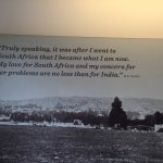 Ghandi speaking of the influence of South Africa on him