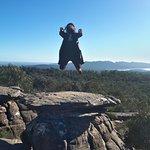 Levitating on top of the Mushroom Rock