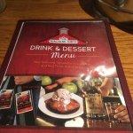 Drink and Dessert Menu