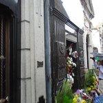 Flowers at Eva Peron's Tomb