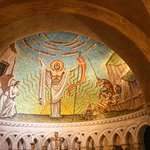 Mosaic in the Resurrection Chapel.