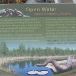 New sign by the center of the bog