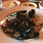 Risotto with mussels.