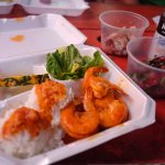 Shrimp Truck lunch plus Poke from the Superette!