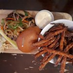 Auto-Bahn Mi, sweet potato fries & garlic/maple dipping sauce