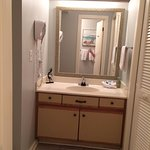 Vanity area is separate from bath area LOVED this made getting ready super easy