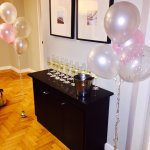 The hotel helped set up balloons and champagne as a surprise for our arrival