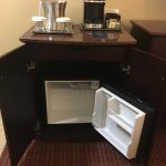 Mini fridge in room