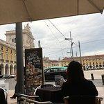 Cocktails outside on Aura Restaurante Terrace on Praca do Comercio